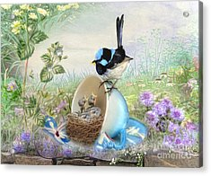 Acrylic Print featuring the digital art  Feed Time by Trudi Simmonds