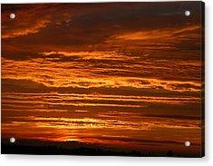 Firery Sky Acrylic Print by Dave Clark