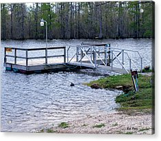 Fishing Boat Dock  Acrylic Print by Bill Perry