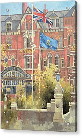 Flags Outside The Prince Of Wales Acrylic Print