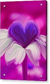 Acrylic Print featuring the photograph  Flower Heart by Linda Sannuti