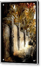 Acrylic Print featuring the photograph   Flowing Waterfall  by Athala Carole Bruckner