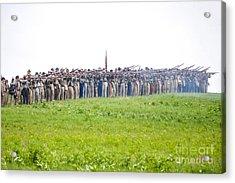 Gettysburg Confederate Infantry 0157c Acrylic Print