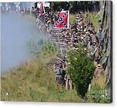 Gettysburg Confederate Infantry 8769c Acrylic Print