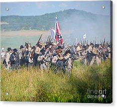 Gettysburg Confederate Infantry 9214c Acrylic Print
