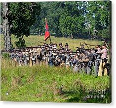 Gettysburg Confederate Infantry 9270c Acrylic Print