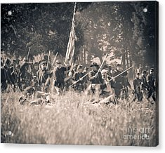 Gettysburg Union Infantry 9348s Acrylic Print