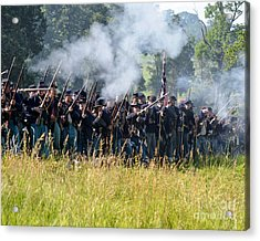 Gettysburg Union Infantry 9360c Acrylic Print