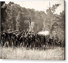 Gettysburg Union Infantry 9372s Acrylic Print