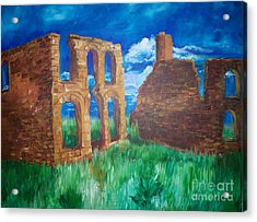Acrylic Print featuring the painting  Ghost Town  by Eric  Schiabor