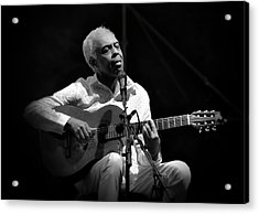 Gilberto Gil   Black And White Acrylic Print