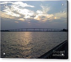 Gov Thomas Johnson Bridge Acrylic Print