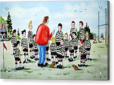 Half Time Acrylic Print by Wilfred McOstrich