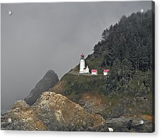 Heteca Head In Fog Acrylic Print
