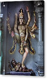 Hindu God Kali Acrylic Print by Carl Purcell