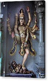 Hindu God Kali Acrylic Print by Carl Purcell