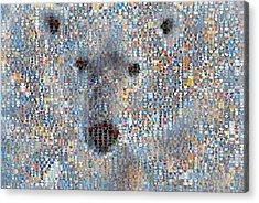 Holiday Hearts Polar Bear Acrylic Print by Boy Sees Hearts