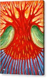 I Burn For You Acrylic Print by Wojtek Kowalski
