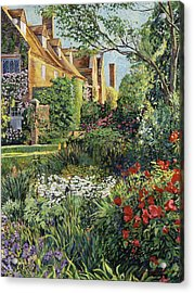 Impressions Of Sissinghurst Acrylic Print by David Lloyd Glover