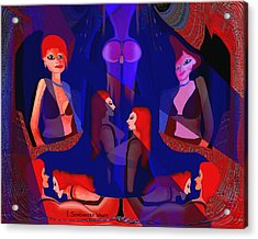 In The Harem - 123 Acrylic Print by Irmgard Schoendorf Welch