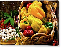 Acrylic Print featuring the photograph  Italian Peppers  by Harry Spitz