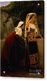 Italian Women From Abruzzo  Acrylic Print by Sir Lawrence Alma-Tadema