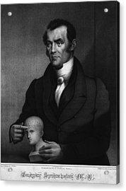 Johann Gaspar Spurzheim 1776-1832 Acrylic Print by Everett