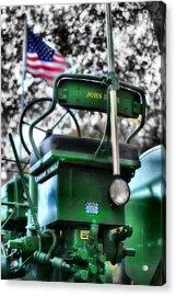 John Deere American Tractor Acrylic Print by Ben Michalski