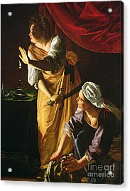 Judith And Maidservant With The Head Of Holofernes Acrylic Print by Artemisia Gentileschi
