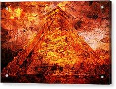C H I C H E N  .  I T Z A .  Pyramid Acrylic Print