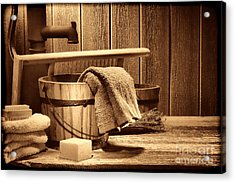 Laundry At The Ranch Acrylic Print by American West Legend By Olivier Le Queinec