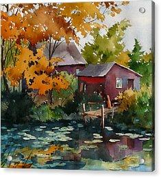 Lily Pond Acrylic Print by Art Scholz