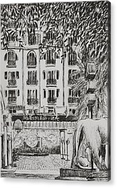 Majestic  Cannes Acrylic Print by Vincent Alexander Booth