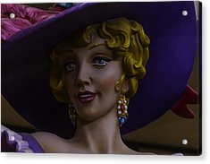 Mardi Gras Woman Acrylic Print by Garry Gay