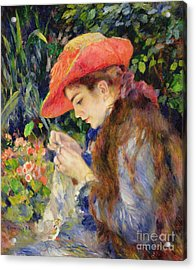 Marie Therese Durand Ruel Sewing Acrylic Print