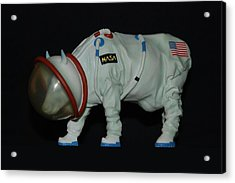 Maurice The Space Cow Boy Acrylic Print by Rob Hans