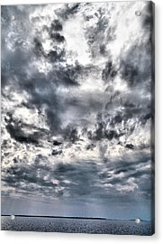 Acrylic Print featuring the photograph  Mental Seaview by Jouko Lehto