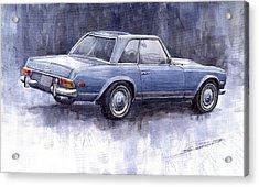 Mercedes Benz 280 Sl W113 Pagoda  Acrylic Print by Yuriy  Shevchuk
