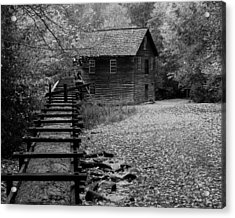 Mingus Mill - Black And White Acrylic Print by Fred Baird