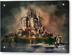 Mont Saint-michel Acrylic Print by Andrzej Szczerski