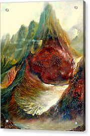 Mountains Fire Acrylic Print by Henryk Gorecki