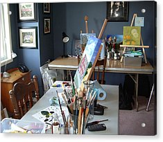 Acrylic Print featuring the painting  My Station by Diane Daigle