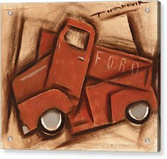 Old Cubism Truck Art Print Acrylic Print by Tommervik