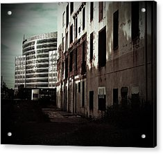 Old Mills And New Offices Acrylic Print by Kat Loveland