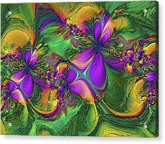 Orchids Acrylic Print by Alexandru Bucovineanu