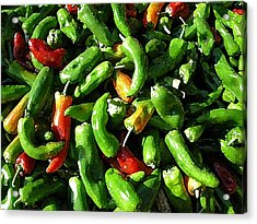 Peppers Framers Market Sicily Acrylic Print