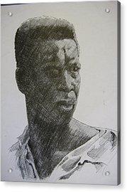 Photograph Of K. C. Acrylic Print by Dalushaka Mugwana