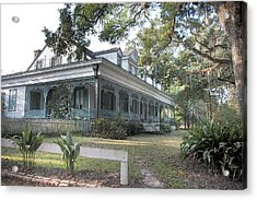 Acrylic Print featuring the photograph  Plantation Home by John Hix