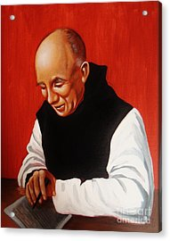 Portrait Of Thomas Merton Acrylic Print by Joseph Malham