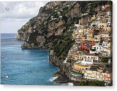 Positano Coastline Campania Italy  Acrylic Print by George Oze